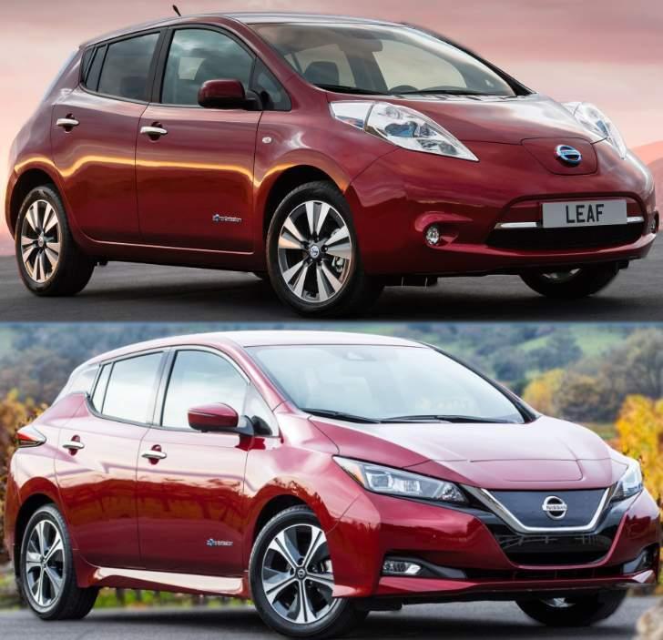 Nissan Leaf 2017 ZE0 vs Leaf ZE1 2018