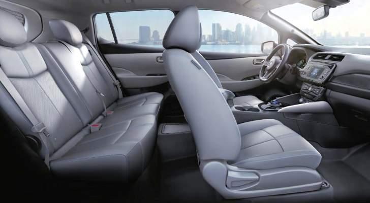 Light Gray Leather Nissan Leaf SL 2018